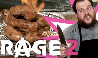 RAGE 2 : Gastronogeek fait des saucisses enflammées, c'est drôle et ça a l'air sacrément bon