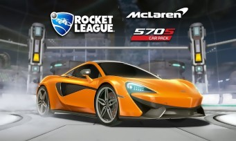 Rocket League : la McLaren 570S arrive dans le jeu via un DLC !