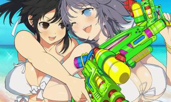 Senran Kagura Peach Beach Splash : les armes du jeu exhibées par des filles en bikini