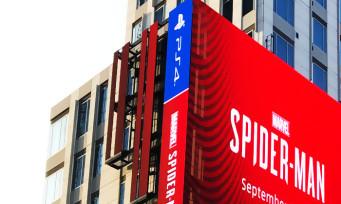 Spider-Man : un écran géant en plein Los Angeles rien que pour l'exclu PS4