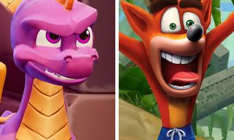 Spyro / Crash Bandicoot : un bundle avec les deux trilogies remasterisées ?