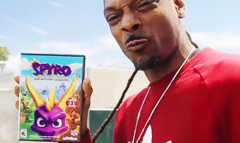 Spyro Reignited Trilogy : une vidéo WTF où Snoop Dogg récupère le jeu auprès d'un drone cracheur de feu