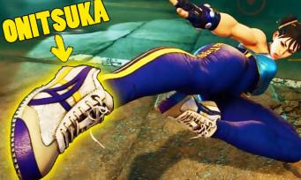 Street Fighter 5 : la publicité in-game revient avec des chaussures Onitsuka pour Chun-Li