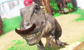 Super Mario Odyssey : une vidéo de gameplay avec Mario qui prend le contrôle d'un T-Rex