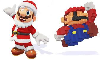 Super Mario Odyssey : une tenue de Noël et une casquette 8-bit pour Mario