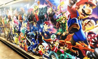 Super Smash Bros. Ultimate : une énorme publicité en plein métro parisien, c'est impressionnant !