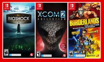 Switch : de gros téléchargements sur les versions physiques de Bioshock, Borderlands et XCOM 2