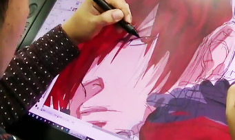 KOF XIV : quand l'illustrateur Eisuke Ogura dessine Iori Yagami en direct