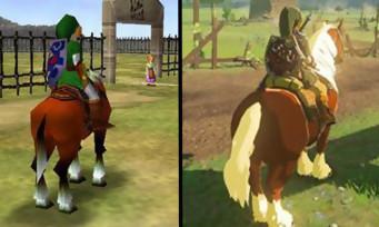 Zelda Breath of the Wild : le Ranch Lon Lon d'Ocarina of Time a bien changé, le comparatif 1998-2017