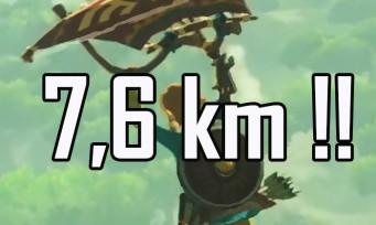 Zelda Breath of the Wild : un joueur réussit l'exploit de parcourir plus de 7 600 mètres en paravoile