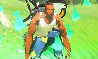 Zelda Breath of the Wild : au tour de Carl Johnson de GTA San Andreas d'arpenter les plaines d'Hyrule