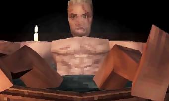 The Witcher 3 : la scène de bain de Geralt avec les graphismes PS1