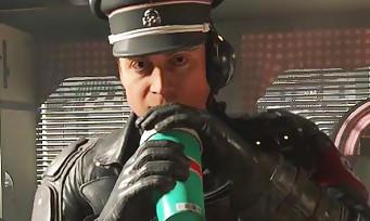 Wolfenstein 2 : une vidéo de gameplay avec un Nazi qui déguste un milkshake à la fraise