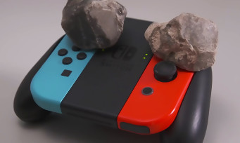 Yoshi's Crafted World : un joueur termine le jeu en posant deux pierres sur sa manette ! (ce n'est pas un poisson d'avril !)